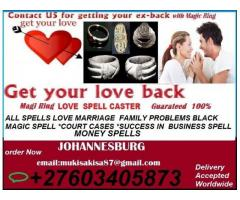 REAL MAGIC RING ALL SPELLS LOVE MARRIAGE  MONEY & FAMILY PROBLEMS  +27603405873 JOHANNESBURG